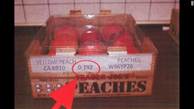Trader Joe's peaches (4-4.5 lbs.). <a href='http://www.fda.gov/Safety/Recalls/ucm405943.htm' target='_blank'>Click here</a> to view a full list of the recalled products on FDA.gov.
