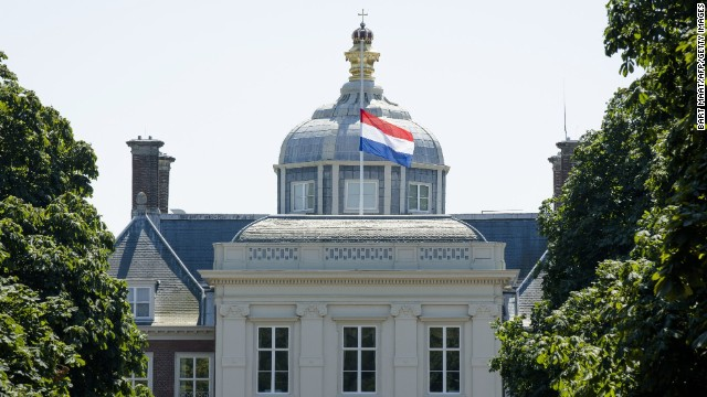 The Dutch flag flies at half-staff on the Huis ten Bosch Palace in the Hague, the Netherlands. The country declared an exceptional day of mourning for the 298 victims of whom 193 were Dutch.