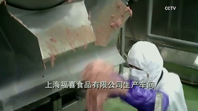 Chinese meat scandal affects U.S. brands