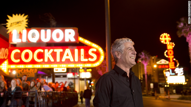 He got a glimpse of that alternative Vegas in places like the Huntridge Tavern, the Double Down Saloon, the Peppermill, Atomic Liquors, the Bootlegger Bistro and Lotus of Siam.