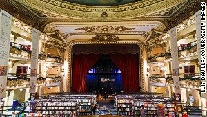 Originally a theater, El Ateneo was converted into a cinema and then a bookstore.