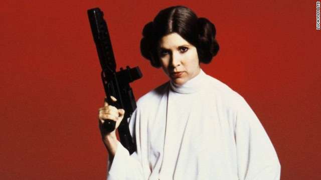"Blasting her way out of the Death Star, we knew fairly quickly that Leia was not one to be trifled with in the ""Star Wars"" films. Carrie Fisher played the role."