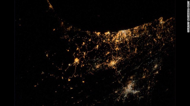"A photograph <a href='https://twitter.com/Astro_Alex/status/492003157531451392/photo/1' target='_blank'>tweeted by astronaut Alexander Gerst</a> on Wednesday, July 23, shows major cities of Israel and Gaza. Gerst said in his tweet: ""My saddest photo yet. From #ISS we can actually see explosions and rockets flying over #Gaza &amp; #Israel."""