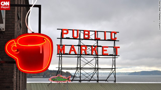 """I always loved neon because it was a representation of the future from the people of the past,"" said Randall Brelsford, who visited Seattle's famous <a href='http://ireport.cnn.com/docs/DOC-1152051'>Public Market</a> in 2011."