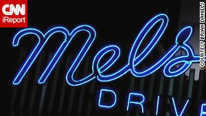 Mel\'s Drive-In, a famous neon sign in Los Angeles.