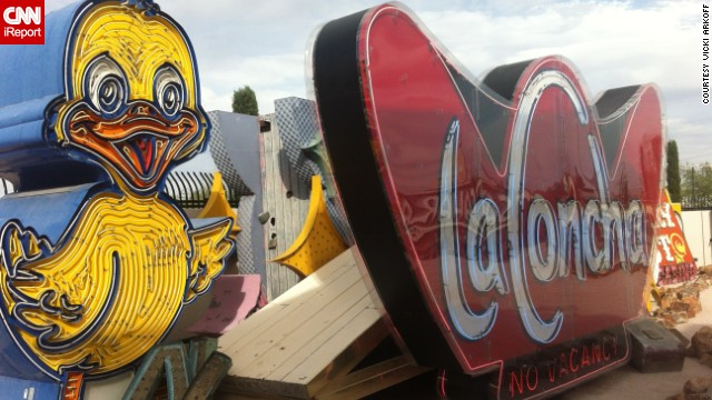 The <a href='http://www.neonmuseum.org/' target='_blank'>Neon Museum</a> in Las Vegas has a <a href='http://ireport.cnn.com/docs/DOC-1056832'>graveyard of rescued signs</a> from some famous places, like Caesars Palace and the Stardust. Freelance travel writer Vicki Arkoff visited on a work trip in October.