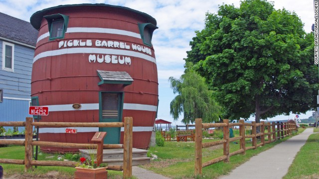 Grand Marais, Michigan's Pickle Barrel House Museum was once a summer home for the cartoonist who drew the labels on Monarch Food's pickle jars and is now on the National Registry of Historic Places.