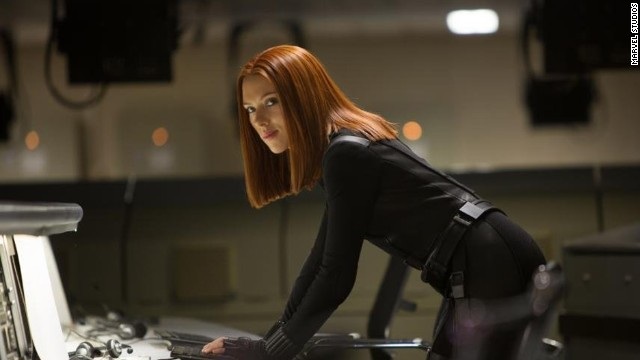 "Scarlett Johansson is also here a second time, because we can't possibly leave out the character who stole the movie in her first scene in ""The Avengers"" -- not an easy thing to do. Black Widow was pretty kickass in the film."