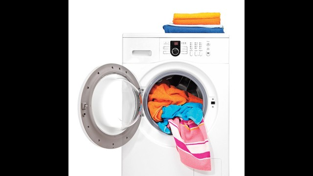 Washer and Dryer: After washing certain whites in hot water with bleach