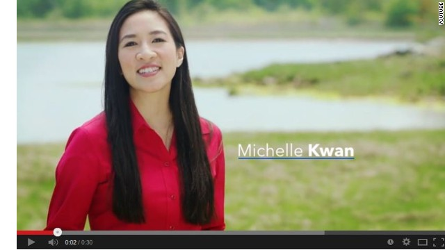 Michelle Kwan stars in husband's political ad
