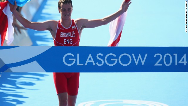 Alistair Brownlee, pictured, won gold in the triathlon at London 2012 and he followed that up by claiming top spot at the Commonwealth Games ahead of his brother, Jonny.