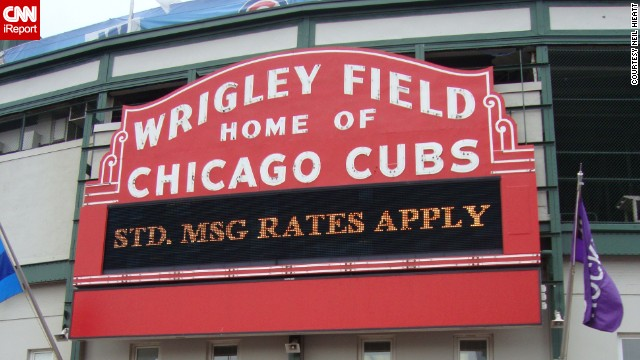 """They may be glitzy at night, but during they day, neon signs have a subtle elegance to them,"" says Neil Hieatt. Take the iconic neon sign from Chicago's <a href='http://ireport.cnn.com/docs/DOC-1150838'>Wrigley Field</a>, as spotted on a 2009 game day."