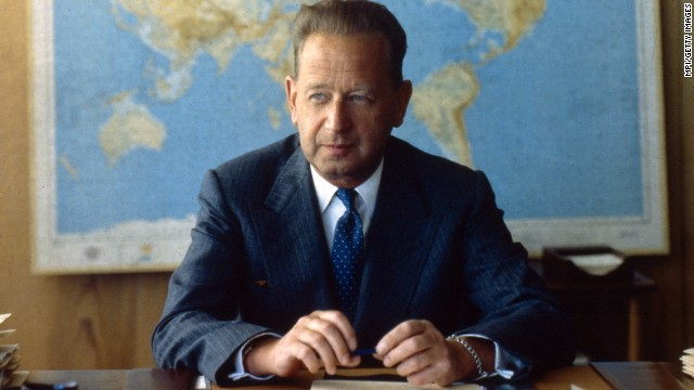 "The United Nations has often been criticized as ineffectual, but Dag Hammarskjold, its second secretary-general, was determined to change that. ""(The major powers) thought they had got a safe, bureaucratic civil servant, nonpolitical, and they got Hammarskjold. It will never happen again,"" an aide once said. Hammarskjold died in a plane crash on September 18, 1961, while trying to settle conflict in the Congo. He was the first person posthumously awarded the Nobel Peace Prize."