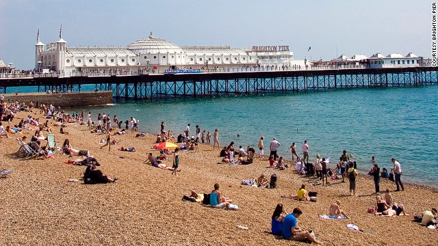 Brighton's only remaining pier (the rest have burned down) is one of the most popular along the UK's southern coast.