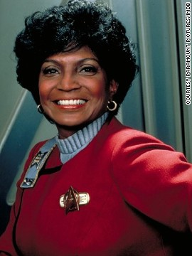 "Nichols pictured in 1982 film ""Star Trek II: The Wrath of Khan."""
