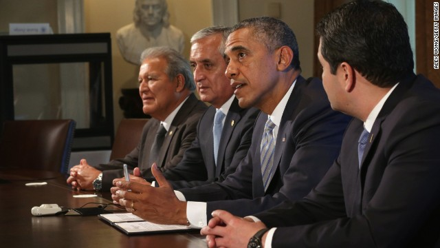 President Obama meets with Central American leaders