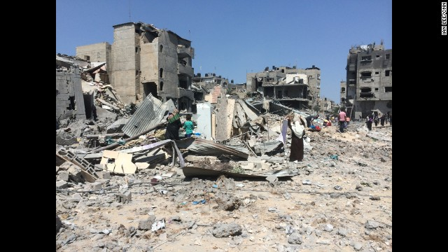 GAZA: The devastation of Beit Hanoun. Photo by CNN's Ian Lee, July 26. A 12-hour humanitarian cease-fire between Israel and Hamas held Saturday as diplomats worked to create a longer truce in a conflict that has killed more than 1,000 people -- mostly civilians. The cease-fire started at 8 a.m. Saturday (1 a.m. ET). If the 12-hour cease-fire holds, Palestinians will be able to move medical supplies into Gaza. <a href='http://www.cnn.com/2014/07/26/world/meast/mideast-crisis/index.html?hpt=hp_inthenews'>FULL STORY AT CNN.COM</a>. Follow Ian (<a href='http://instagram.com/ianjameslee' target='_blank'>@ianjameslee</a>) and other CNNers along on Instagram at <a href='http://instagram.com/cnn' target='_blank'>instagram.com/cnn</a>.