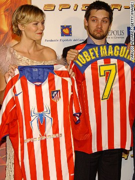 """This slightly more obvious commercial venture by Atletico Madrid aimed to promote the """"Spiderman 2"""" movie upon its release in 2004."""