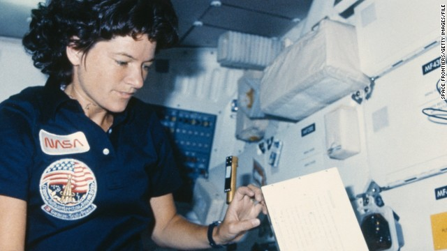 After her role on the show, Nichols became a recruiter for NASA's space program, attracting the first American woman in space, Sally Ride (pictured), and current NASA administrator, Charles Bolden.