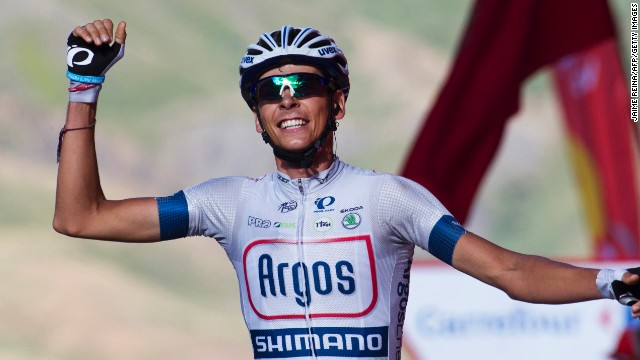 Young French rider Warren Barguil won two stages of last year's Tour of Spain for his Giant-Shinamo team.