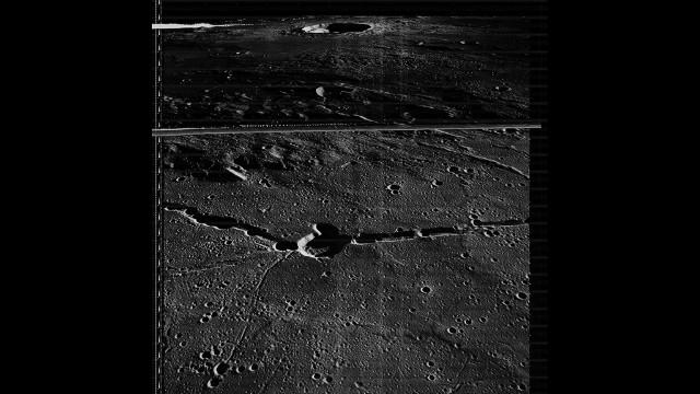 Medium resolution image taken by Lunar Orbiter 3 on 17 February 1967.