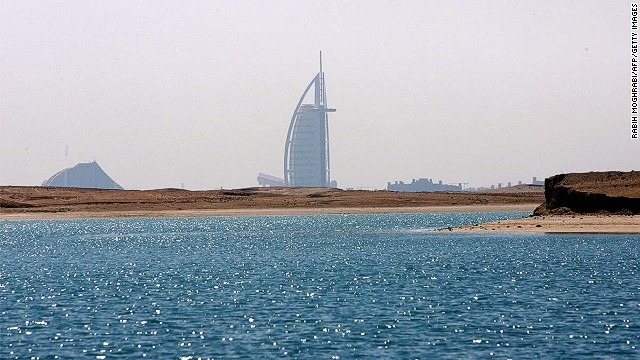 No beer, just bronzing at Jumeirah Beach in Dubai.