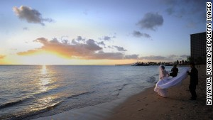 Waikiki Beach: And you can stay right where you are for the honeymoon.