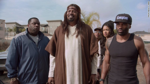 "The most talked-about person in Hollywood lately has been Jesus Christ, whether it's movies such as ""Son of God"" or TV shows such as ""Black Jesus,"" pictured. But 2014 isn't a watershed moment for religion; Jesus has been depicted on the big and small screens many times before."