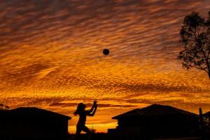 Espectacular puesta de sol en Australia