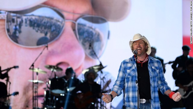 "Toby Keith topped the Forbes <a href='http://www.forbes.com/sites/zackomalleygreenburg/2014/07/28/the-worlds-highest-paid-country-musicians-2014/' target='_blank'>list of highest-earning country stars of 2013.</a> The singer, whose 2013 album was ""Drinks After Work,"" made $65 million last year -- much of it from business interests such as a chain of restaurants."