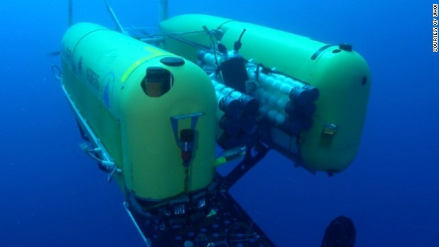 The <a href='http://www.whoi.edu/main/nereus' target='_blank'>Nereus Autonomous Underwater Vehicle</a> from the Woods Hole Oceanographic Institute (WHOI), which has carried out research at record depths of 10,000 meters.