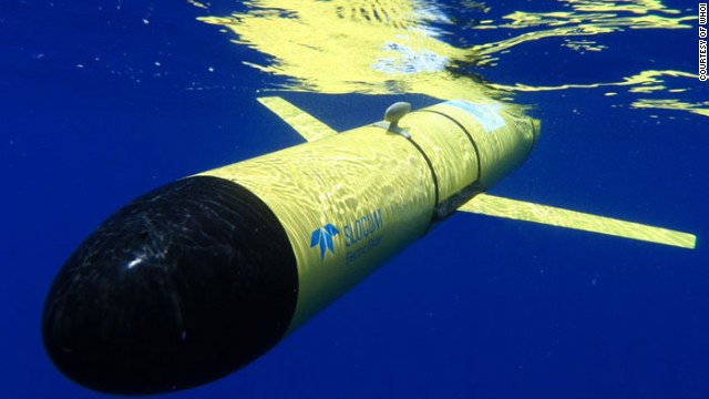 The <a href='http://www.webbresearch.com/slocumglider.aspx' target='_blank'>Slocum Glider</a> from WHOI, one of the longest-serving undersea drones.