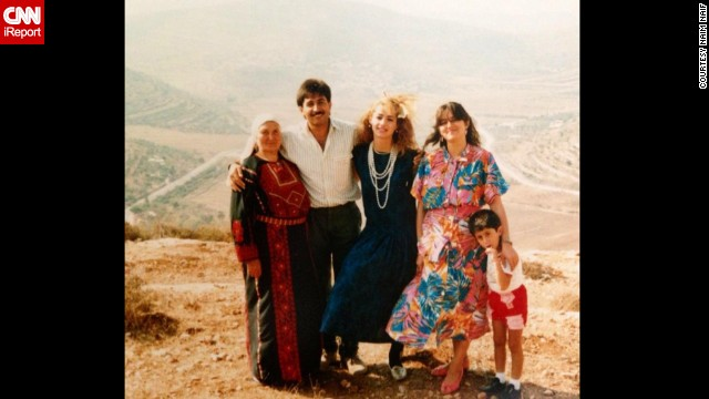 Naim Naif was born in the U.S. but spent part of his childhood in the West Bank. His <a href='http://ireport.cnn.com/docs/DOC-1156751'>Palestinian parents</a>, seen in the center, posed after getting engaged in 1985 in his father's hometown Sinjil, West Bank. Click through to see photos of his family through the years.