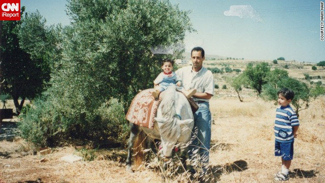 The Naif family decided to move back to the West Bank in 1997, when Naim was just 3. Here, he gets a taste of adventure soon after arrival.