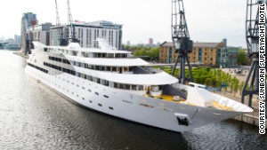 Inside London's $67M superyacht hotel