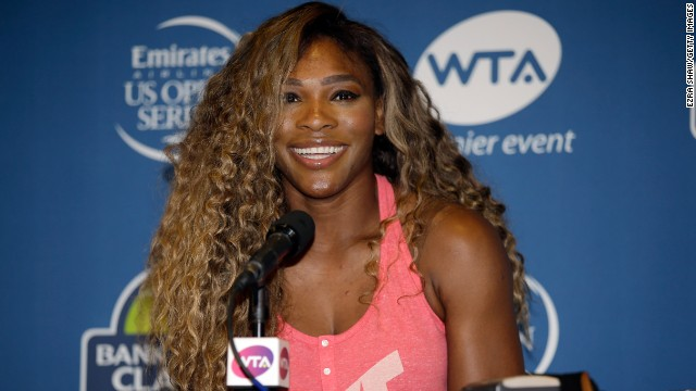 Serena Williams is starting her preparations to capture a third straight U.S. open title in New York in August.