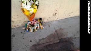 A memorial marks the site of the shooting in Nogales, Sonora.