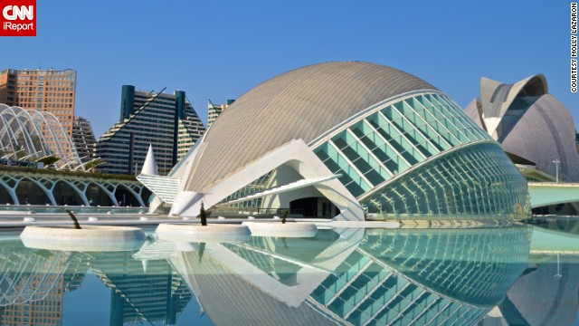 In the middle of the old-world charm of Valencia, Spain, lies an oasis of modern architecture. The City of Arts and Sciences was inaugurated in 1998 with the opening of<a href='http://ireport.cnn.com/docs/DOC-1112027'> the Hemisfèric, </a>a large viewing hall featuring a state-of-the-art IMAX projection system.