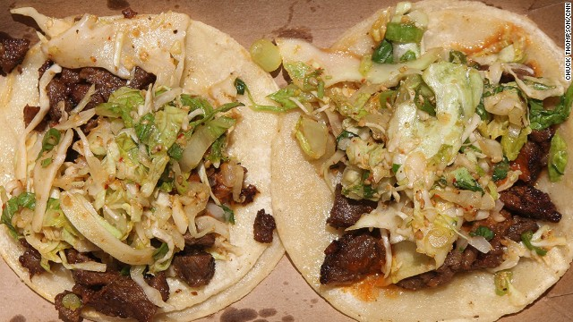 Imitators of Choi's famed Korean barbecue tacos (featuring caramelized Korean barbecue short rib) can now be found from New York to Hong Kong to Amsterdam. Here's the real thing.