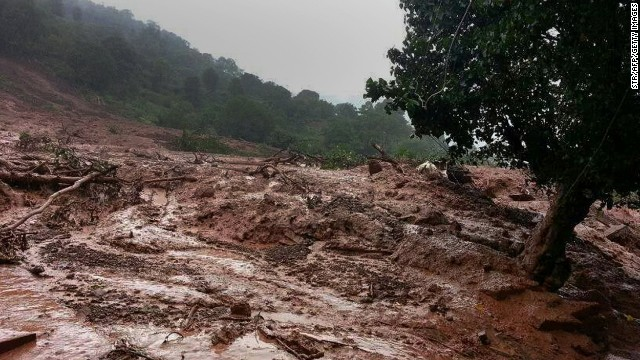 Landslides trap 150 people or more in western India