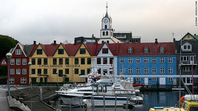 This is the harbor in Torshavn, capital of the Faroe Islands, at 11 p.m. In summer the sun hardly sets and it never gets completely dark. Surprisingly, there's little nightlife in the city.
