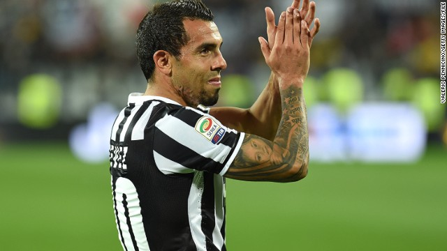 Carlos Tevez showed his appreciation for his fans on Twitter and Facebook following his father's release.
