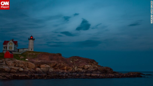 "<a href='http://ireport.cnn.com/docs/DOC-774281'>John McGraw</a> was working in Boston and decided to get a lobster dinner in Maine on a whim. When he arrived, he was pleasantly surprised to come across this gorgeous view with a lighthouse. ""I never did make it to that lobster dinner."""