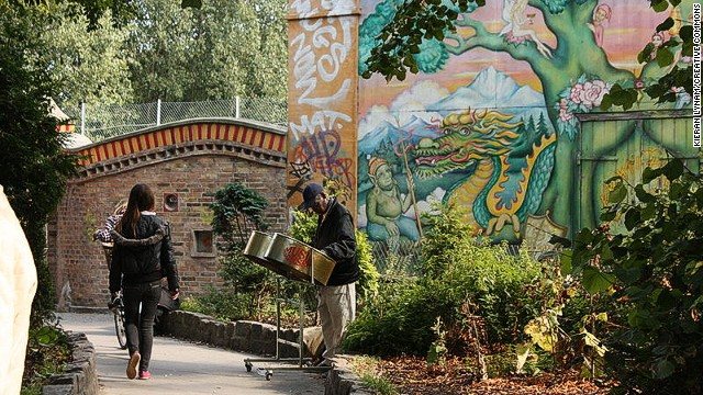 Freetown Christiania in Denmark bought land from the government to establish its own autonomous community.