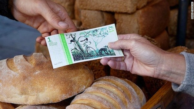"""""""We're actually encouraging other towns and regions of the UK to start local currencies, and they can use all our systems,"""" says Chris Sunderland, director of the Bristol Pound. """"We've got the digital payment system that we're now developing, so others can just use it -- they don't have to go through quite the same development process,"""" he adds. """"And we know how to do the paper Bristol pounds so we can help with that as well."""""""