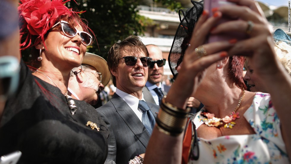 "Forget the track, all eyes were on Tom Cruise when he made a special appearance at Britain's Glorious Goodwood horse racing festival on Thursday -- perhaps rather aptly named ""Ladies' Day."""