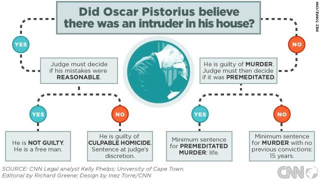 How Judge Masipa will decide the Oscar Pistorius murder verdict