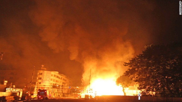Several people were killed and over 200 injured when the gas leak triggered several explosions.