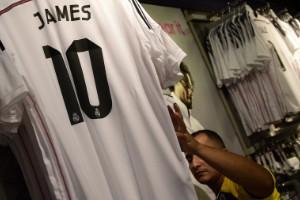El récord de las camisetas de James