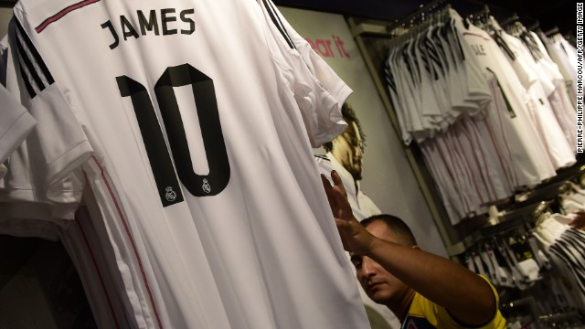 El récord de las camisetas de James